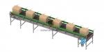 Конвейер ленточный роликовый горизонтальный KLRG